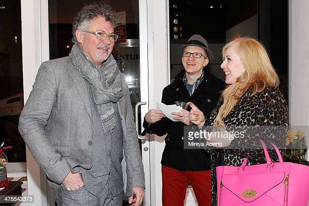 George Whiteside Andrew Redd and Christine Martin attend George Whiteside's Behavioral Patterns Exhibit Event on February 27 2014 in New York City