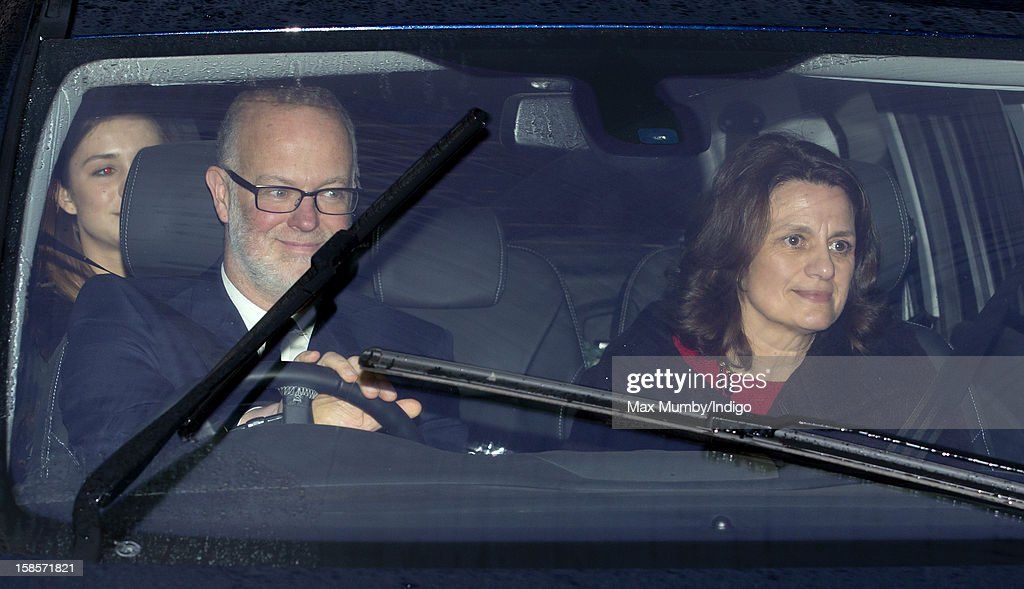 George Windsor, Earl of St Andrews and Sylvana Windsor, Countess of St Andrews attend a Christmas lunch for members of the Royal Family hosted by Queen Elizabeth II at Buckingham Palace on December 19, 2012 in London, England.