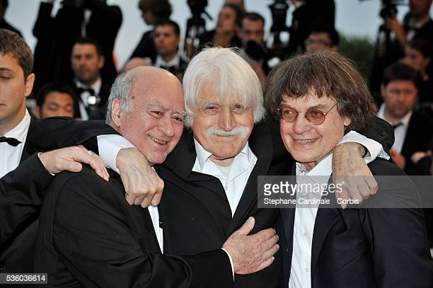 George Wolinski Cabu and Francois Cavanna at the premiere of 'Vicky Cristina Barcelona' during the 61st Cannes Film Festival