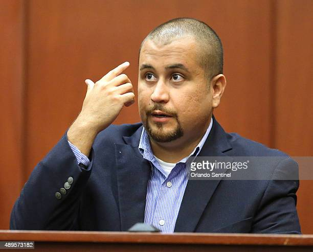 George Zimmerman describes his alleged injuries as he testifies during a hearing for accused shooter Matthew Apperson on Tuesday Sept 22 at Seminole...