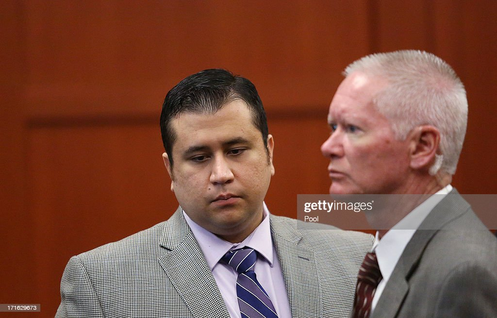 <a gi-track='captionPersonalityLinkClicked' href=/galleries/search?phrase=George+Zimmerman&family=editorial&specificpeople=9042868 ng-click='$event.stopPropagation()'>George Zimmerman</a> exits the courtroom during a recess his murder trial in Seminole circuit court June 27, 2013 in Sanford, Florida. Zimmerman is charged with second-degree murder for the February 2012 shooting death of 17-year-old Trayvon Martin.