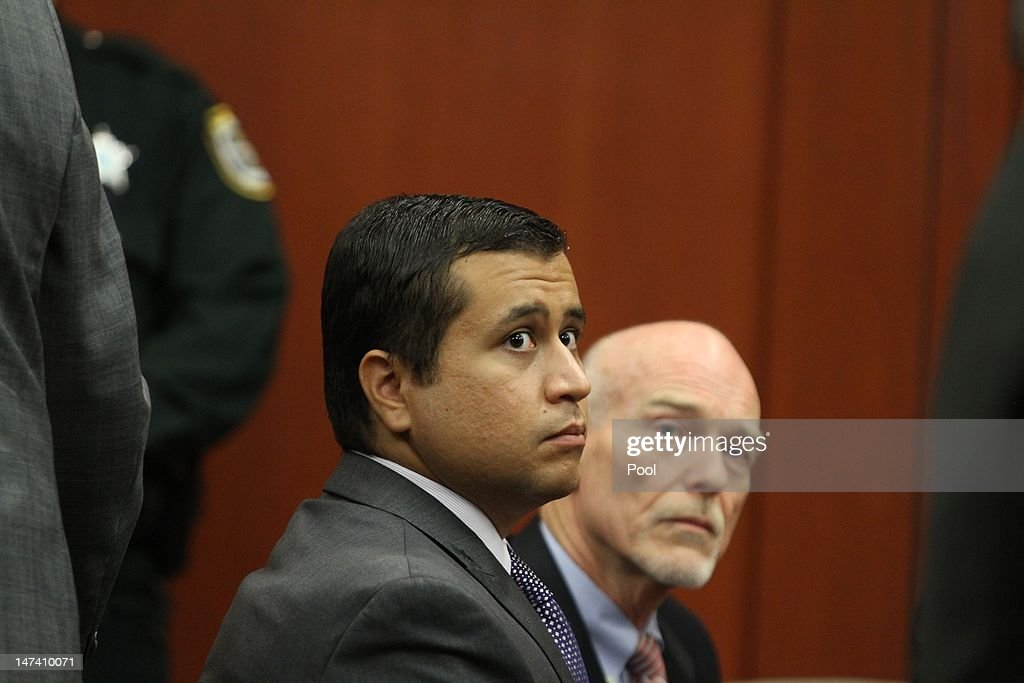 <a gi-track='captionPersonalityLinkClicked' href=/galleries/search?phrase=George+Zimmerman&family=editorial&specificpeople=9042868 ng-click='$event.stopPropagation()'>George Zimmerman</a> sits in a Seminole County courtroom during his bond hearing on June 29, 2012 in Sanford, Florida. Zimmerman is charged with second degree murder in the shooting death of Trayvon Martin.