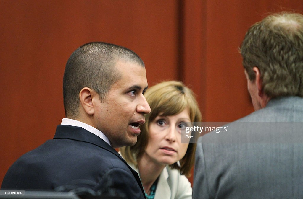 <a gi-track='captionPersonalityLinkClicked' href=/galleries/search?phrase=George+Zimmerman&family=editorial&specificpeople=9042868 ng-click='$event.stopPropagation()'>George Zimmerman</a> (L) talks with his attorney Mark O'Mara (R) in a Seminole County courtroom during his bond hearing on April 20, 2012 in Sanford, Florida. Trayvon Martin was shot by <a gi-track='captionPersonalityLinkClicked' href=/galleries/search?phrase=George+Zimmerman&family=editorial&specificpeople=9042868 ng-click='$event.stopPropagation()'>George Zimmerman</a>, a member of a neighborhood watch in Sanford, Florida, who has been charged with second degree murder in the shooting. Bail was set at $150,000 for Zimmerman and he could be released from jail as early as April 21.