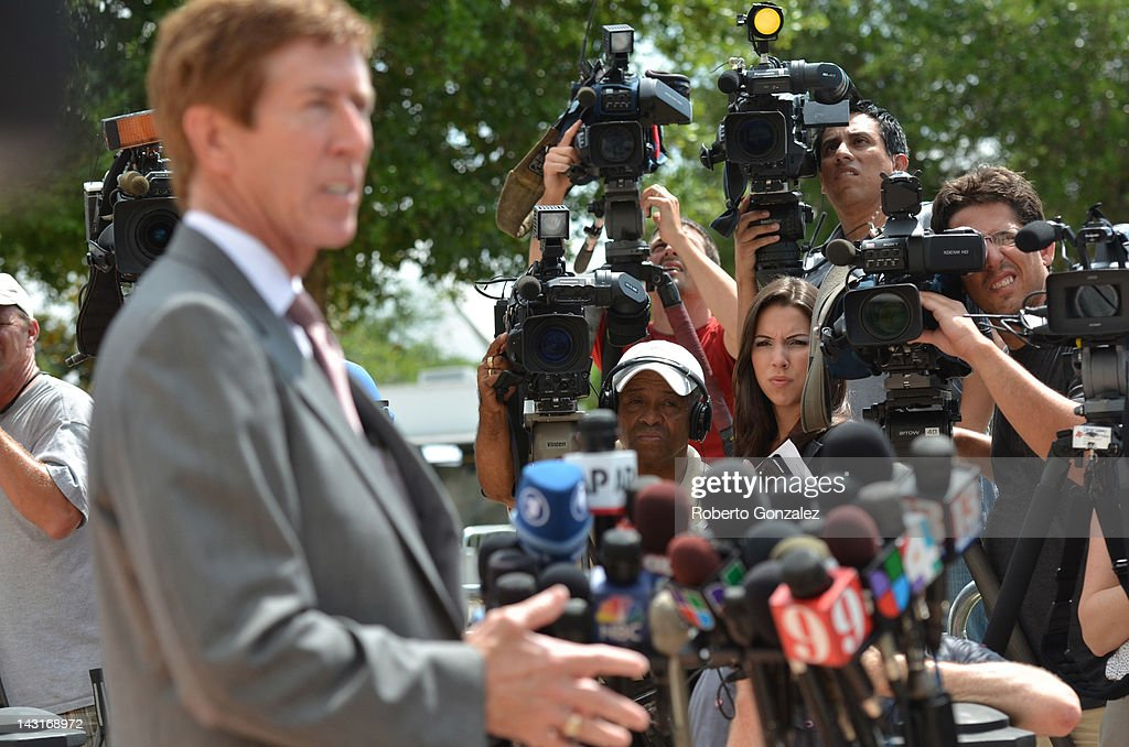 George Zimmerman's attorney Mark O'Mara talks to reporters after Zimmerman won approval to post bond at Seminole County courthouse on April 20, 2012 in Sanford, Florida. Trayvon Martin was shot by George Zimmerman, a member of a neighborhood watch in Sanford, Florida, who has been charged with second degree murder in the shooting. Bail was set at $150,000 for Zimmerman and he could be released from jail as early as April 21.