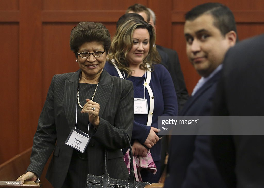 <a gi-track='captionPersonalityLinkClicked' href=/galleries/search?phrase=George+Zimmerman&family=editorial&specificpeople=9042868 ng-click='$event.stopPropagation()'>George Zimmerman</a>'s mother, Gladys, and wife, Shellie, wait for him as he leaves court during his trial in Seminole circuit court July 12, 2013 in Sanford, Florida. Judge Debra Nelson has ruled that the jury can also consider a lesser manslaughter charge along with the second-degree murder charge in the shooting death of Trayvon Martin.