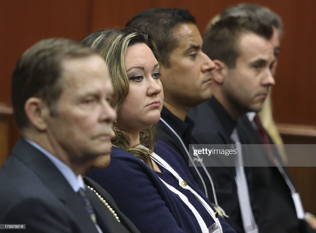 George Zimmerman's wife Shellie sits in court during his trial in Seminole circuit court July 12, 2013 in Sanford, Florida. Judge Debra Nelson has ruled that the jury can also consider a lesser manslaughter charge along with the second-degree murder charge in the shooting death of Trayvon Martin.