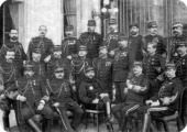 Georges Boulanger French general and politician with other army officers 1888 A reactionary politician Boulanger gained great popularity in the...