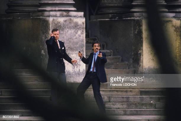 Georges Courtois lors de la prise d'otages du palais de justice de Nantes le 20 décembre 1985 en France