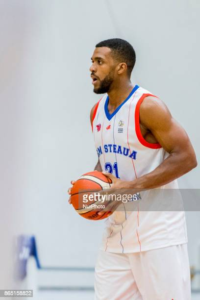 Georges Darwiche during the LNBM Men's National Basketball League game between CSM Steaua Bucharest and BC Mures TarguMures at Sala Regimentul de...