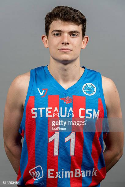 Georges Darwiche of Steaua CSM EximBank Bucharest during the oficial photo session of Steaua CSM EximBank Bucharest before the begining of the FIBA...