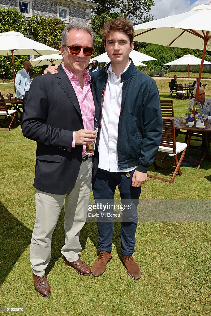 Georges De Keerle (L) and son Stephane De Keerle attend the Cartier Style & Luxury Lunch at the Goodwood Festival of Speed on June 29, 2014 in Chichester, England.