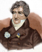CUVIER Georges French naturalist Engraving by A Closs Colored