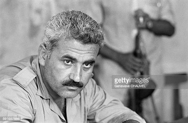 Georges Habash military leader of the PFLP Popular Front for the Liberation of Palestine in Amman Jordan