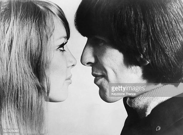Georges Harrison With The Model Pattie Boyd At Their Wedding At London In England On January 21St 1966