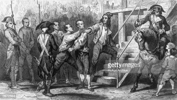 Georges Jacques Danton French lawyer and leader of the French Revolution going to the guillotine with Camille Desmoulins French political activist...