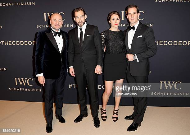 IWC CEO Georges Kern actor Joseph Mawle guest and Christoph GraingerHerr attend the IWC Schaffhausen 'Decoding the Beauty of Time' Gala Dinner during...
