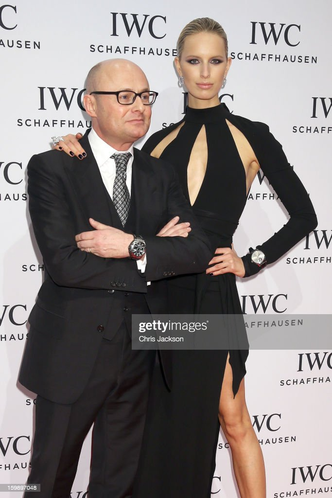 Georges Kern and Karolina Kurkova attend the IWC Schaffhausen Race Night event during the Salon International de la Haute Horlogerie (SIHH) 2013 at Palexpo on January 22, 2013 in Geneva, Switzerland.