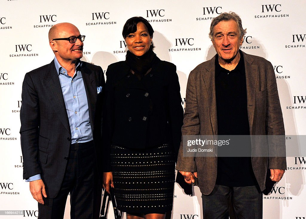 <a gi-track='captionPersonalityLinkClicked' href=/galleries/search?phrase=Georges+Kern&family=editorial&specificpeople=623163 ng-click='$event.stopPropagation()'>Georges Kern</a>, the CEO of International Watch Company (IWC), <a gi-track='captionPersonalityLinkClicked' href=/galleries/search?phrase=Grace+Hightower&family=editorial&specificpeople=211382 ng-click='$event.stopPropagation()'>Grace Hightower</a> and <a gi-track='captionPersonalityLinkClicked' href=/galleries/search?phrase=Robert+De+Niro&family=editorial&specificpeople=201673 ng-click='$event.stopPropagation()'>Robert De Niro</a> attend IWC And Tribeca Film Festival Celebrate 'For The Love Of Cinema' at Urban Zen on April 18, 2013 in New York City.