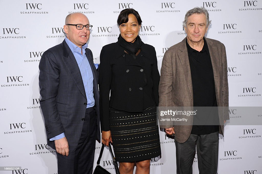 Georges Kerns, Grace Hightower and Actor Robert De Niro attend IWC and Tribeca Film Festival Celebrate 'For the Love of Cinema' on April 18, 2013 in New York City.