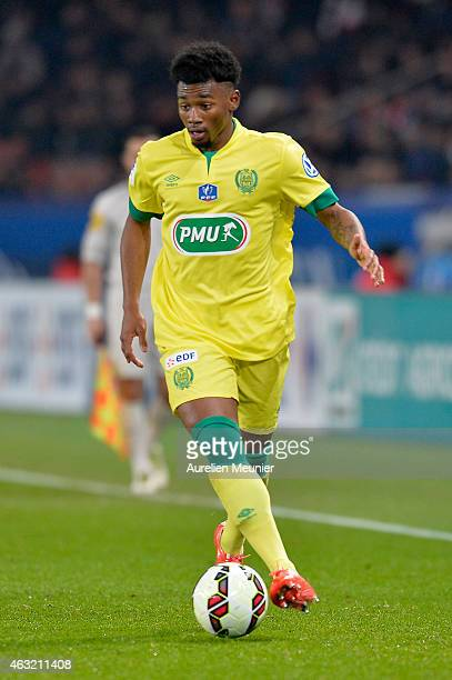 Georges Kevin Nkoudou of FC Nantes in action during the 1/8 Finals of the French League Cup at Parc des Princes on February 11 2015 in Paris France