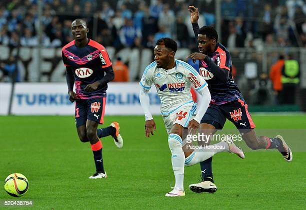Georges Kévin Nkoudou Mbida from marseille in action during the French League 1 match between Olympique de Marseille and FC Girondins de Bordeaux at...