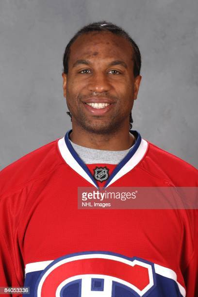 Georges Laraque of the Montreal Canadiens poses for his official headshot for the 20082009 NHL season