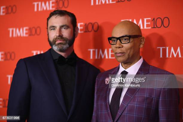 L 25 Georges LeBar and RuPaul attend the 2017 Time 100 Gala at Jazz at Lincoln Center on April 25 2017 in New York City