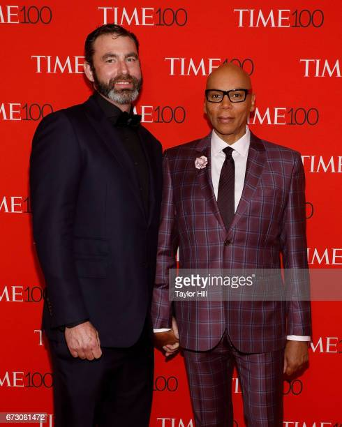 Georges LeBar and RuPaul Charles attend the 2017 Time 100 Gala at Jazz at Lincoln Center on April 25 2017 in New York City
