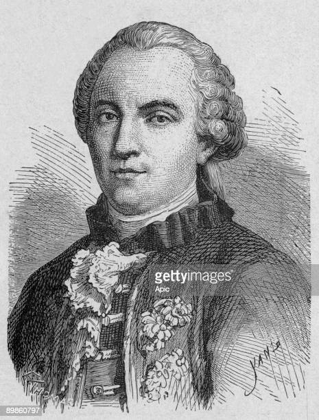 Georges Louis de Buffon French naturalist Engraving from a book about sciences