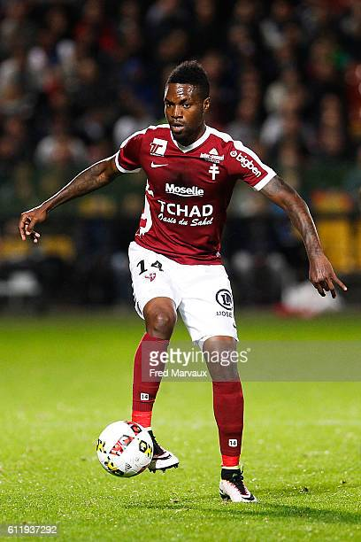 Georges Mandjeck of Metz during the Ligue 1 match between FC Metz and AS Monaco at Stade SaintSymphorien on October 1 2016 in Metz France