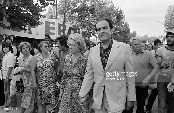 Georges Marchais et sa femme Liliane lors de la Fête de l'Humanité à La Courneuve France le 9 septembre 1978