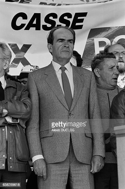 Georges Marchais à la Fête de L'Humanité à La Courneuve France le 14 septembre 1985
