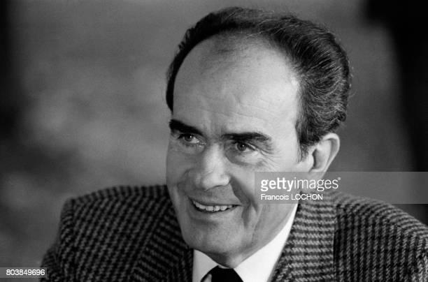 Georges Marchais à la Fête de l'Humanité à La Courneuve le 13 septembre 1986 en France