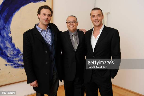 Georges Moquay Yves Klein and David Moquay attend GALERIE GMURZYNSKA Celebrates the Opening of YVES KLEIN ROTRAUT Exhibition at Museo d'Arte Lugano...