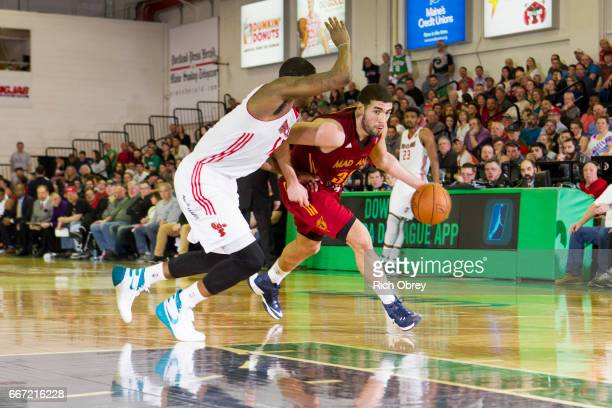 Georges Niang of the Fort Wayne Mad Ants ddrives to the basket against the Maine Red Claws on Monday April 10 2017 at the Portland Expo in Portland...