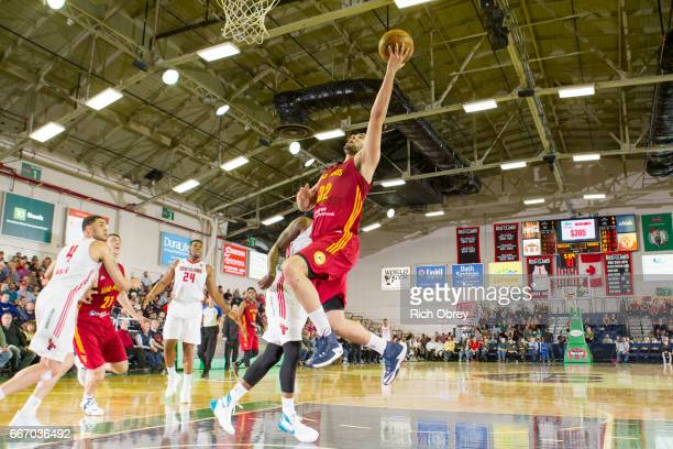Georges Niang of the Ft Wayne Mad Ants shoots against the Maine Red Claws on Monday April 10 2017 at the Portland Expo in Portland Maine NOTE TO USER...