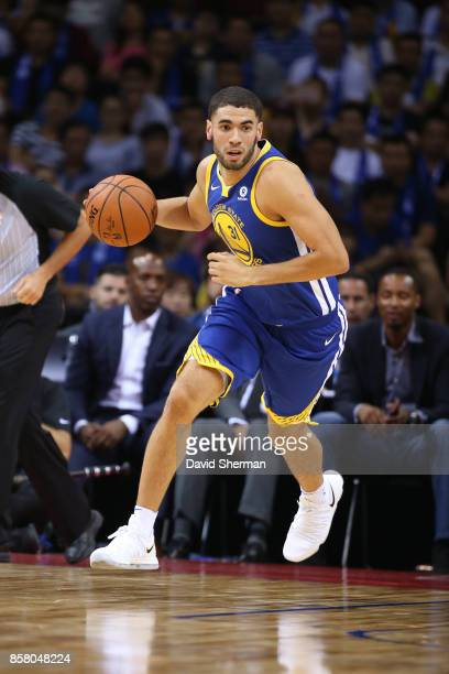 Georges Niang of the Golden State Warriors dribbles the ball against the Minnesota Timberwolves as part of 2017 NBA Global Games China on October 5...