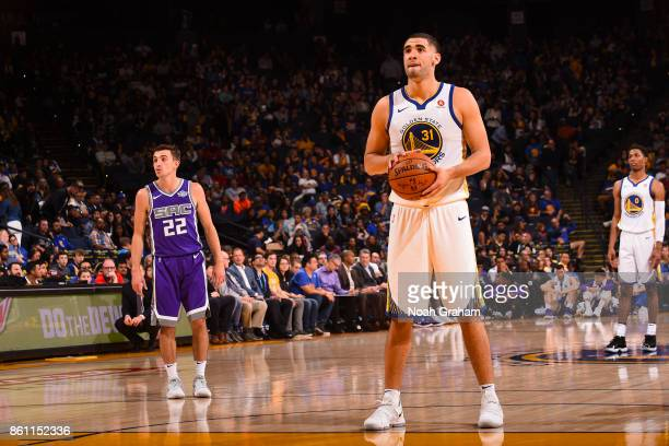 Georges Niang of the Golden State Warriors shoots the ball during preseason game against the Sacramento Kings on October 13 2017 at ORACLE Arena in...