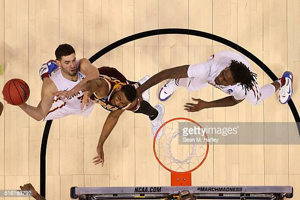 Georges Niang of the Iowa State Cyclones makes a shot against the Iona Gaels during the first round of the 2016 NCAA Men's Basketball Tournament at...