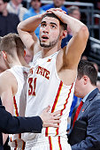 Georges Niang of the Iowa State Cyclones reacts against the UAB Blazers during the second round of the 2015 NCAA Men's Basketball Tournamenat at the...