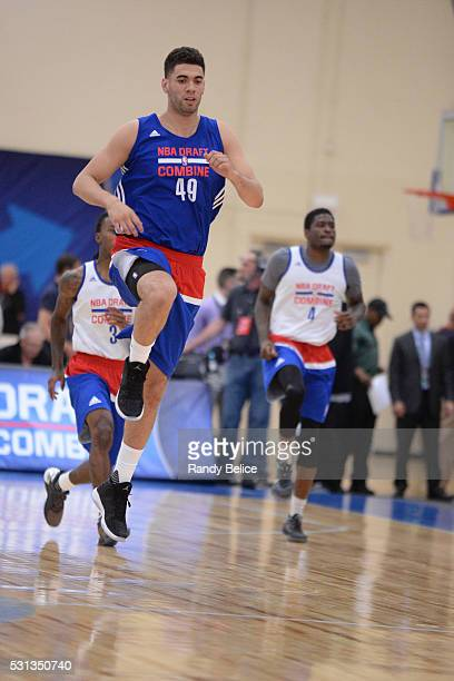 Georges Niang stretches during 2016 NBA Draft Combine on May 12 2016 at the Quest Multisport in Chicago Illinois NOTE TO USER User expressly...