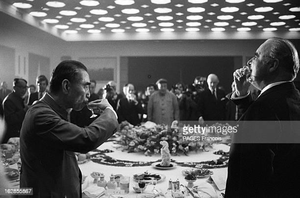 Georges Pompidou In China En septembre 1973 à l'occasion d 'une visite officielle en Chine le président de la république francaise Georges POMPIDOU...