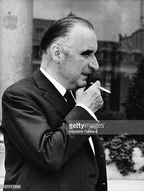 Georges Pompidou In Paris On The Sixties