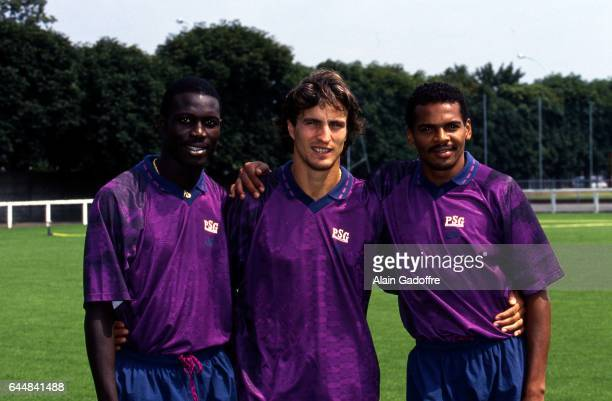 Georges WEAH / David GINOLA / Bernard LAMA Entrainement PSG Photo Alain Gadoffre / Icon Sport