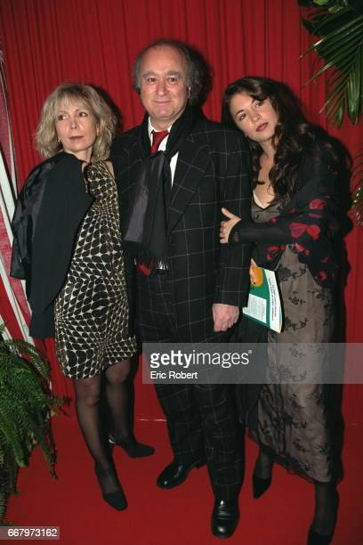 Georges Wolinski with his wife Maryse and one of his daughters at the Pavillon Baltard