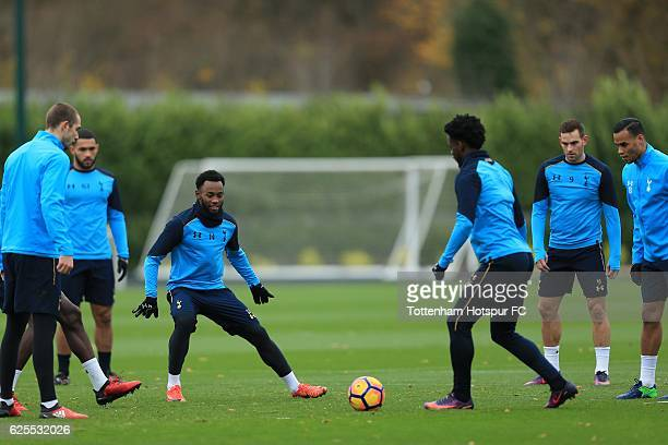 GeorgesKevin Nkoudou Mbida of Tottenham Hotspur during a training session at the clubs' training ground on November 24 2016 in Enfield England
