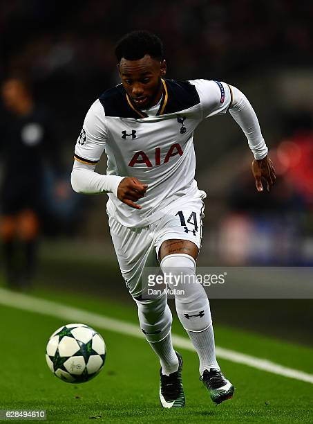 GeorgesKevin N'Koudou of Tottenham Hotspur in action during the UEFA Champions League match between Tottenham Hotspur FC and PFC CSKA Moskva at...