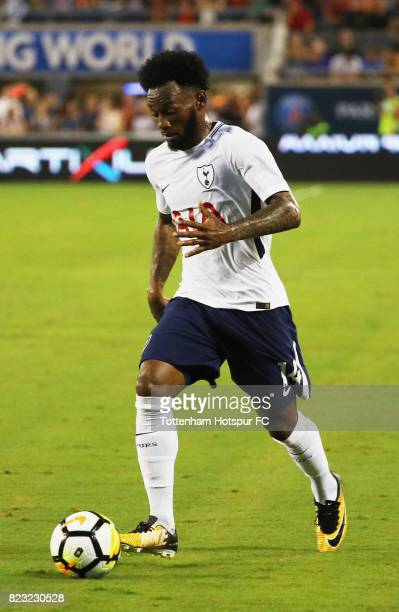 GeorgesKevin Nkoudou of Tottenham Hotspurs works the ball against Paris SaintGermain during a International Champions Cup 2017 game at Camping World...