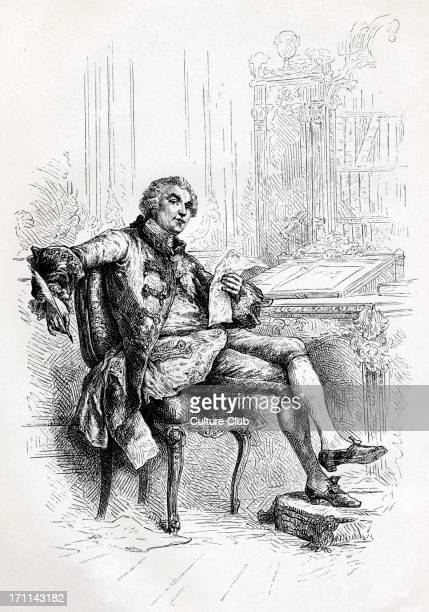 GeorgesLouis Leclerc Comte de Buffon portrait of the French mathematician biologist and writer quill in hand 7 September 1707 16 April 1788