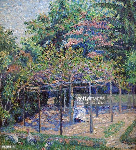 GeorgesPierre Seurat 18591891 Sunset oil on panel This is one of the many 'croquetons' Seurat painted in the region around Paris in the 1880's They...